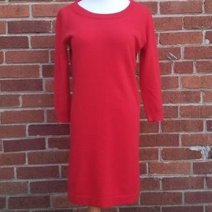 J.Crew Italian Cashmere Sweater Dress in red